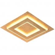 Plafon Sobrepor Sindora LED Metal DCX015054 Quadrado 30W 3000K Bivolt Ø350mm - Ouro Folha
