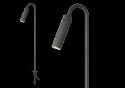 Poste LED Romalux 10129 Pole Long 5,6W 2700K IP66 Bivolt Ø45x800mm Preto
