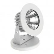 Projetor Canopla LED Interlight 3640-12V-MD-S/PX Flat Out 6W 2700K 12V IP67 Ø108x69mm Preto Texturizado