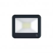 Projetor LED Brilia 306509 IP65 20W 3000K Bivolt 165x30x135mm - Preto