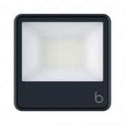 Projetor LED Brilia 306547 IP65 50W 6500K Bivolt 186x30x135mm - Preto