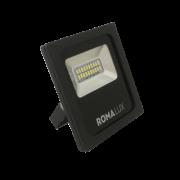 Projetor LED Romalux 20008 10W 600K IP66 Bivolt Ø110x148x34mm Preto