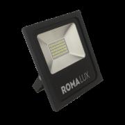 Projetor LED Romalux 20011 30W 6000K IP66 Bivolt Ø182x230x45mm Preto