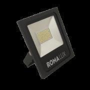 Projetor LED Romalux 20013 50W 6000K IP66 Bivolt Ø238x268x45mm Preto