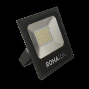Projetor LED Romalux 20014 100W 6000K IP66 Bivolt Ø295x330x60mm Preto