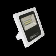 Projetor LED Romalux 20016 10W 6000K IP66 Bivolt Ø110x148x34mm Branco