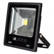 Projetores Ledos LD-017/30.64P Cob 30W 6400k 120° 238x223x45mm Preto