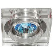 Spot Bella YD756A Embutido Shine 1L MR11 GU10 Bivolt 6,2x6,2x1,4cm Cromado/Transparente