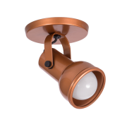 Spot Canopla Sobrepor Incolustre 703.10 Inval 1L PAR20 E27 Ø85x130mm Branco