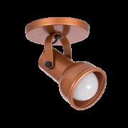 Spot Canopla Sobrepor Incolustre 703.12 Inval 1L PAR20 E27 Ø85x130mm Marrom