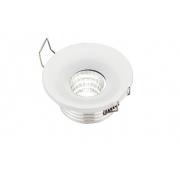 Spot de Embutir Pix 36504069 Lumini Fixo LED Direcionável 3W 3000k 250lm 48x48x23mm Branco