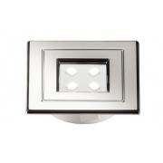 Spot de Embutir Quadrado Cromado Pix 36505227 Lumini Pop LED 1W 3000k 90lm 40x40x10mm Branco