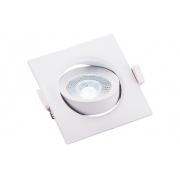 Spot de Embutir Quadrado Pix 36505278 Lumax Direcionável LED 5W 6500k 400lm 90x90x42mm Branco