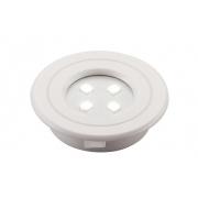 Spot de Embutir Redondo Pix 36505230 Lumini Pop LED 1W 6000k 90lm 40x40x10mm Branco