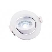 Spot de Embutir Redondo Pix 36505280 Lumax Direcionável LED 3W 6500k 240lm 75x75x40mm Branco