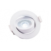 Spot de Embutir Redondo Pix 36505282 Lumax Direcionável LED 5W 6500k 400lm 90x90x42mm Branco