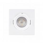 Spot Direcionável Quadrado LED Gaya 9981 Bivolt 5W 4000K IP20 Ø88x42mm Branco