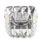 Spot Embutir Bella YD1026 1L GU10 Dicróica Bivolt 7,5x7,8cm Cromado/Transparente