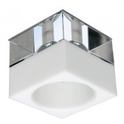 Spot Embutir Bella YD712 Quad Cristais 1L GU10 Dicróica Bivolt 7x7x8cm Branco/Transparente