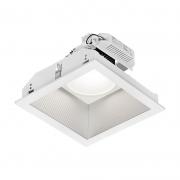 Spot Embutir LED Lumicenter EF64-E DownLight Fixo Quadrado 19W 89º IP20 Bivolt 260x260x160