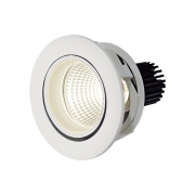 Spot Embutir LED Lumicenter ER45-E18 DownLight Redondo 17W Bivolt Ø125x115mm - Branco