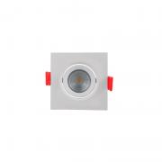 Spot Embutir LED Opus ECO33006 Quadrado 3W 6500K Bivolt Ø72x72x38mm