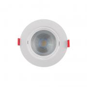 Spot Embutir LED Opus ECO33051 Redondo 7W 3000K Bivolt Ø115x115x55mm