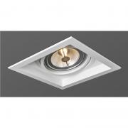 Spot Embutir Opus HM39008 Face Recuada 1L AR111 GU10 Bivolt IP20 185x185x57.5mm