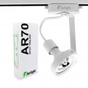 Spot Para Trilho Eletrificado Furlight FL3020 AR70 Ø95x200mm Branco