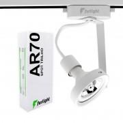 Spot Para Trilho Eletrificado Furlight FL3021 AR70 Ø95x200mm Branco
