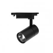 Spot para Trilho Nordecor 6080/N Dora LED 3000K 1050lm 10W 180x130x58mm Bivolt Preto