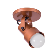 Spot Canopla Sobrepor Incolustre 703.00 Inval 1L PAR20 E27 Ø75x115mm Branco