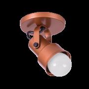 Spot Canopla Sobrepor Incolustre 703.03 Inval 1L PAR20 E27 Ø75x115mm Cobre