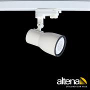 Spot Trilho Eletrificado 3 Circuitos Altena PRO08020 Dome 1L PAR20 E27 Plug Altrac PRO