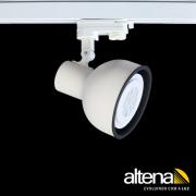 Spot Trilho Eletrificado 3 Circuitos Altena PRO08030 Dome 1L PAR30 E27 Plug Altrac PRO
