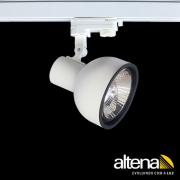 Spot Trilho Eletrificado 3 Circuitos Altena PRO08011 Dome 1L AR111 GU10 Plug Altrac PRO