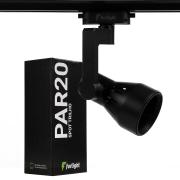 Spot Para Trilho Eletrificado Furlight FL3016 PAR20 E27 Ø80x240mm Preto