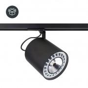 Spot Trilho Eletrificado Newline IN55955-OL Lisse II 1L GU10 AR111 125x117x155mm - Com Adaptador Branco Total