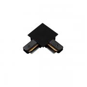 """Conexão """"L"""" Para Trilho Eletrificado Embutir SD1206PTO - Preto"""
