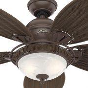 Ventilador de Teto Hunter Fan 50057 Caribbean Breeze 5 Pás 76W 60Hz 161Rpm 127V Ø1370x457,2mm Bronze Antigo