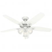 Ventilador de Teto Hunter Fan 50060 Builder Plus 5 Pás 63W 60Hz 155Rpm 127V Ø1320x458,7mm Branco