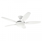 Ventilador de Teto Hunter Fan 50817 Contempo 5 Pás 67W 60Hz 178Rpm 220V Ø1320x366,5mm Branco
