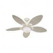 Ventilador de Teto Hunter Fan 50858 Caribbean Breeze 5 Pás 76W 60Hz 161Rpm 220V Ø1370x457,2mm Branco Texturado
