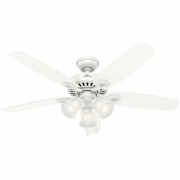 Ventilador de Teto Hunter Fan 50860 Builder Plus 5 Pás 63W 60Hz 155Rpm 220V Ø1320x458,7mm Branco