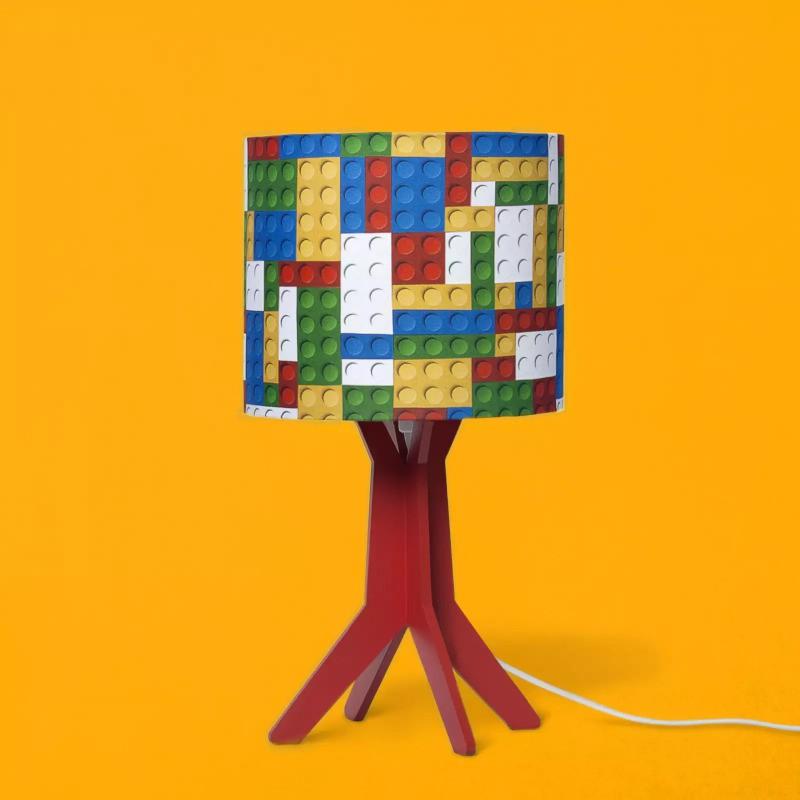 Abajur Carambola ALGO Lego 1L E27 Bivolt 360x200x200mm