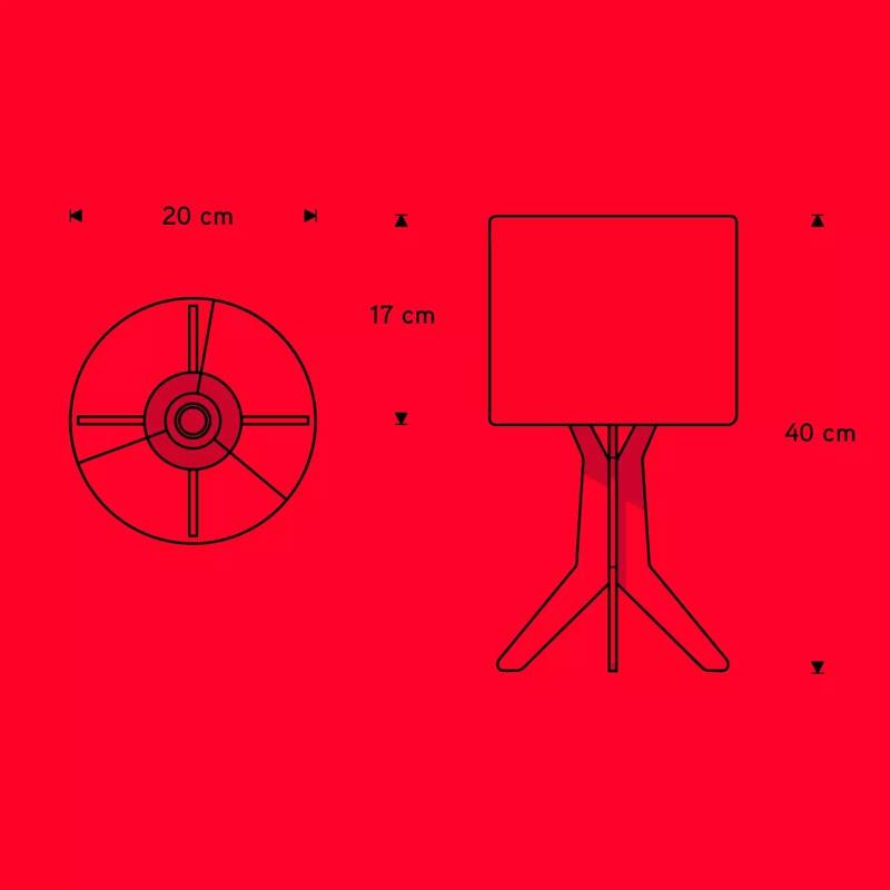 Abajur Carambola ALIC Licorne 1L E27 Bivolt 360x200x200mm