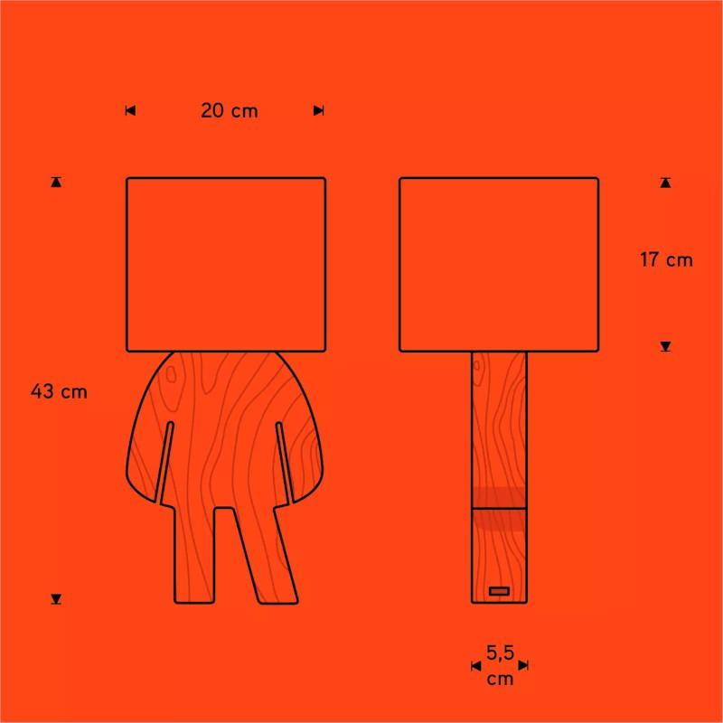 Abajur Carambola ALSR Lisa 1L E27 Bivolt 430x200x200mm Rosa