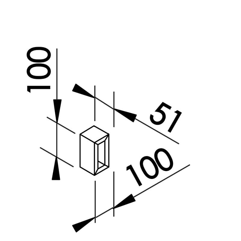 Arandela LED Newline SN10120 Portara 6W 2700K 127V 50x100x51mm