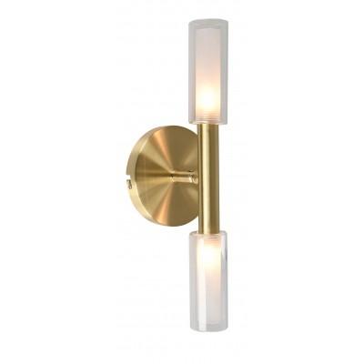 Arandela Bella HP003 Caiena 2L G9 50W 120x100x280mm - Dourado/Branco