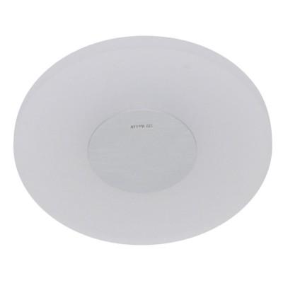 Arandela Bella ZU004 Aço/Vidro Led 6,6W Ø26x6cm - Prata e Branco